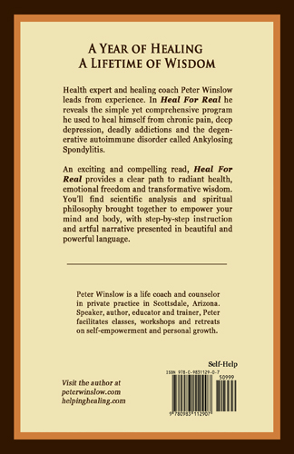 Heal for Real Back Cover
